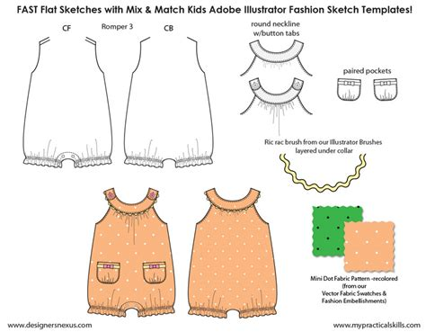 fashion design templates for adobe illustrator kids illustrator flat fashion sketch templates my