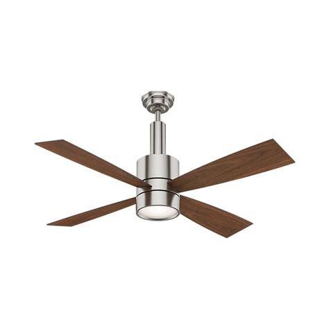 hunter antero fan 54 hunter antero 54 in led indoor brushed nickel ceiling fan