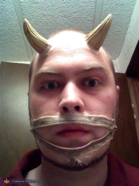 zipper mouth demon costume  sew diy costumes photo