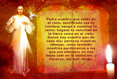 padre nuestro pater noster divina misericordia foto de jesus misericordioso con el