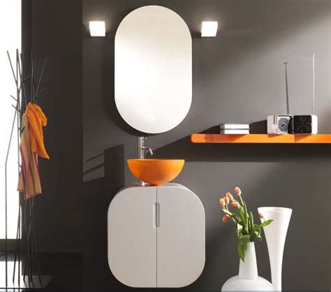 orange color bathroom design by lasaidea