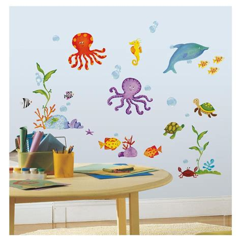sea wall stickers the sea wall stickers 60 decals dolphin octopus fish