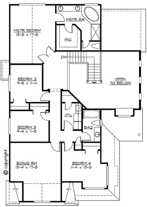 gambrel house floor plans gambrel roof and tons of natural light 2302jd 2nd
