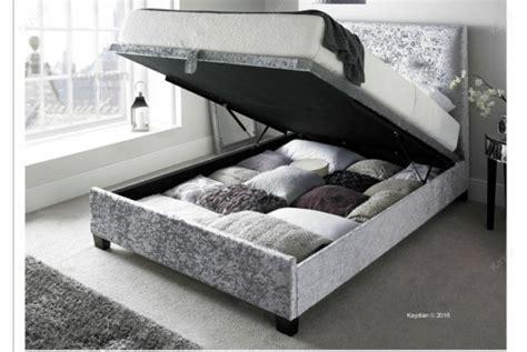 ottoman storage bed assembly instructions kaydian walkworth 6ft super kingsize silver velvet fabric