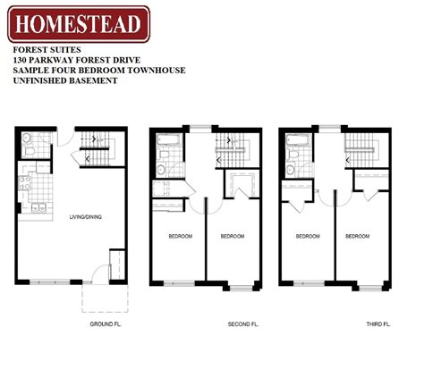 four bedroom townhouse forest suites homestead