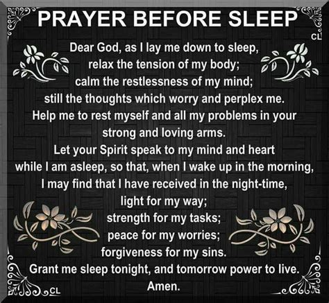 prayer before sleep bible quotes 2 prayer
