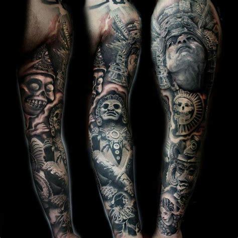 latin tattoo sleeves aztec warrior sleeve tatts pinterest aztec warrior