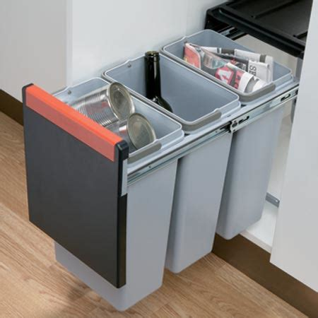 kitchen recycling bins for cabinets hafele cube 30 pull out waste bin 3x 10 litre bins