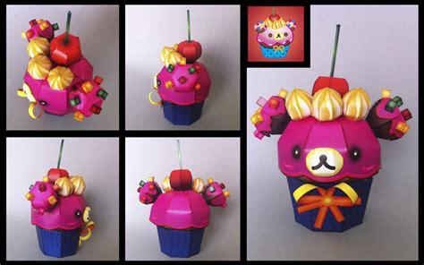 Cupcake Paper Crafts - korilakkuma cupcake papercraft by ikarusmedia on deviantart