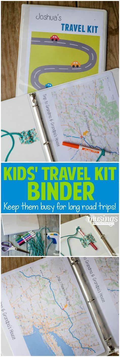 printable road trip binder kids travel kit binder over 150 free printable