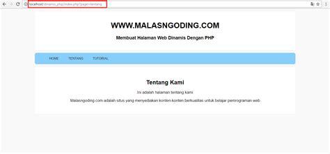 membuat database website dinamis membuat halaman web dinamis dengan php malas ngoding