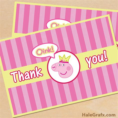 Pig Thank You Cards
