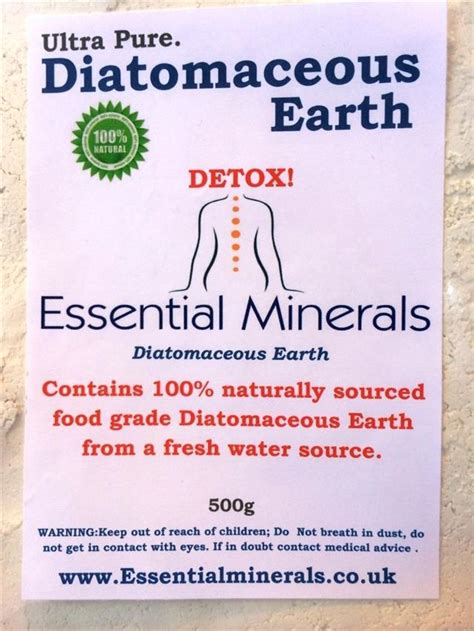 Detox Symptoms With Diatomaceous Earth by 2 5 Litres Of Codex Food Grade Diatomaceous
