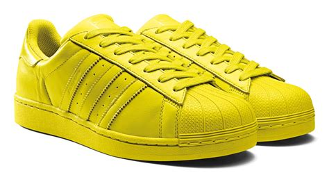 adidas superstar supercolor shoes bright yellow