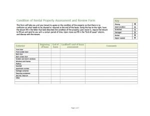 Get Your Security Deposit Back With A Rental Walk Through Condition Form Checklists Rental Walk Through Template