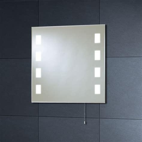 Lit Bathroom Mirrors 600mm Calisto Square Back Lit Bathroom Mirror Mi007