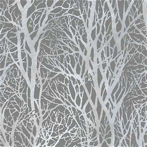 Wallpaper Sticker Roll 10m 72 3 silver and grey woodland trees wallpaper paste the