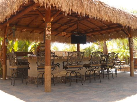 Dining Room Pads For Table by Custom Outdoor Kitchen Solid Roof Palapa