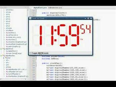 digital clock themes java java digital clock youtube
