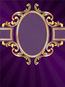 golden frame with purple background vector 02 vector