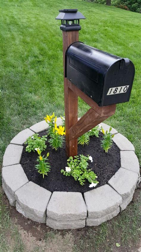Mailbox Solar Light X Stained Post Mailbox Solar Light Topper Retaining Wall