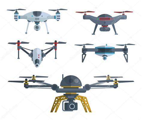 droni volanti prezzi diversi droni volanti isolati su bianco vettoriali stock