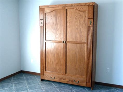 murphy bed armoire armoire style murphy wall bed by tedm lumberjocks com