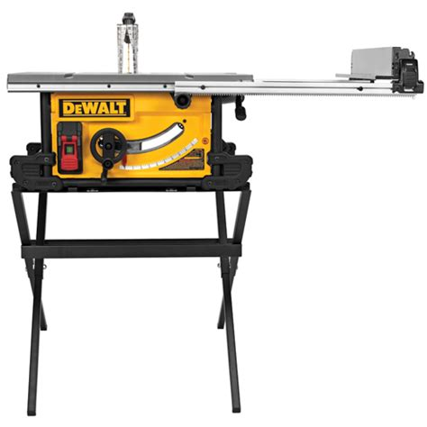task table saw review dewalt dwe7490x 10 quot site table saw with scissor stand