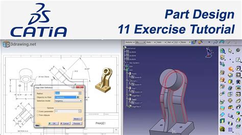 tutorial video catia v5 catia v5 eğitim 44 11 exles tutorial part design