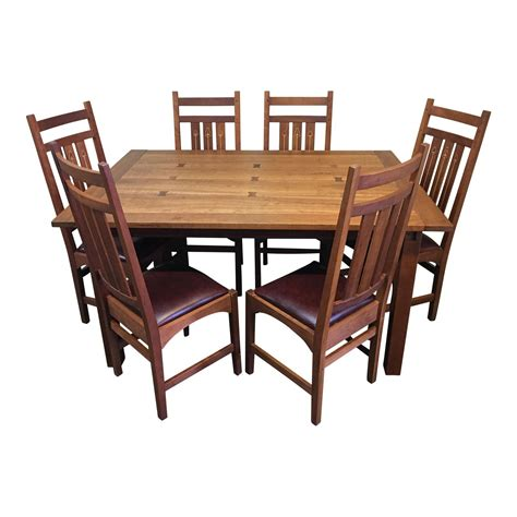 6 chair dining table price stickley mission dining table six ellis chairs a set