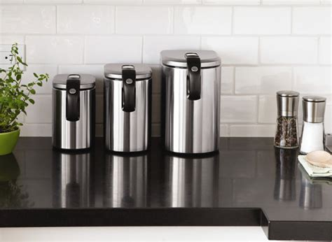 Stainless Steel Kitchen Canister by Stainless Steel Canisters Decoist