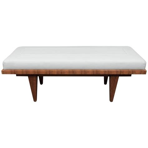 rosewood bench leather and rosewood bench for sale at 1stdibs