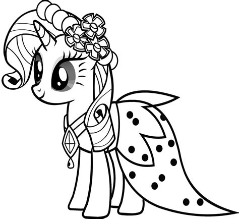 pony coloring 7 my pony coloring pages