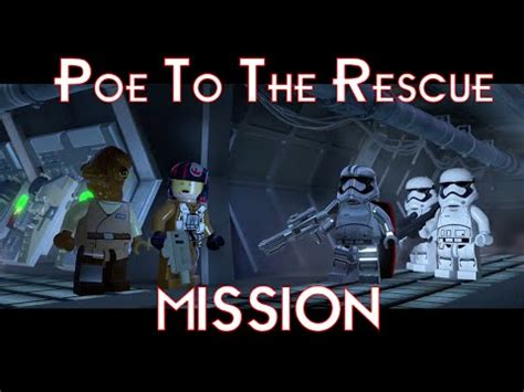 star wars the rescue lego star wars the force awakens walkthrough poe to the rescue mission playstation 4 youtube