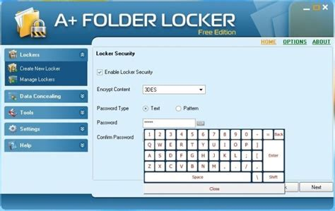unique pattern password a folder locker powerful data encrypter steganograph