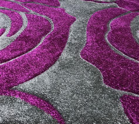 large purple rug grey purple large roses modern designer home floor area rug 160x230cm
