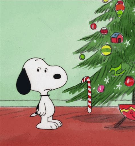 peanuts animated christmas images snoopy gifs find on giphy