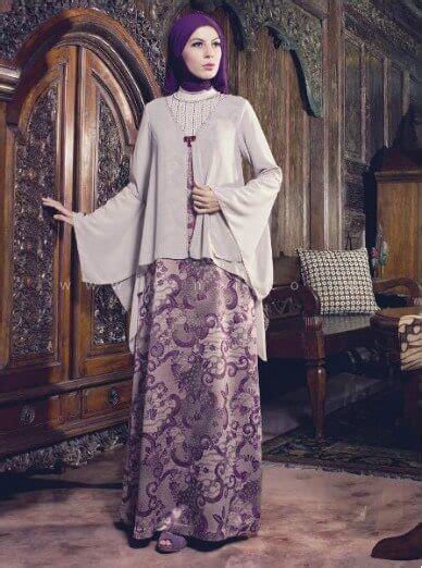 Atasan Blouse Batik Lonceng Parang Daun gamis batik kombinasi kain polos model terbaru 2017