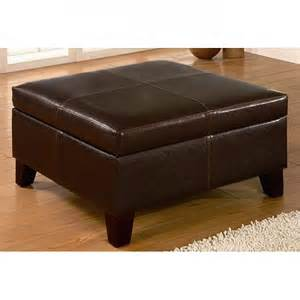 brown square ottoman storage bench
