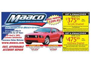 Automotive Paint Deals Maaco Collision Repair And Auto Painting Westside Coupons