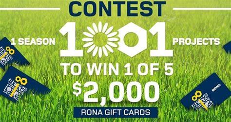 Rona Gift Card - win 2 000 rona gift card free stuff finder canada