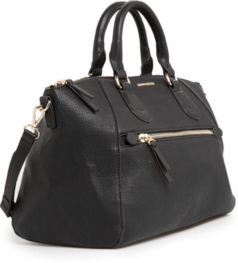 mango pebbled sling tote bag black 11street malaysia tote bags