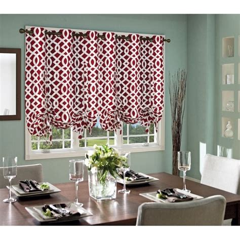 red trellis curtains commonwealth thermalogic trellis tie up grommet curtain