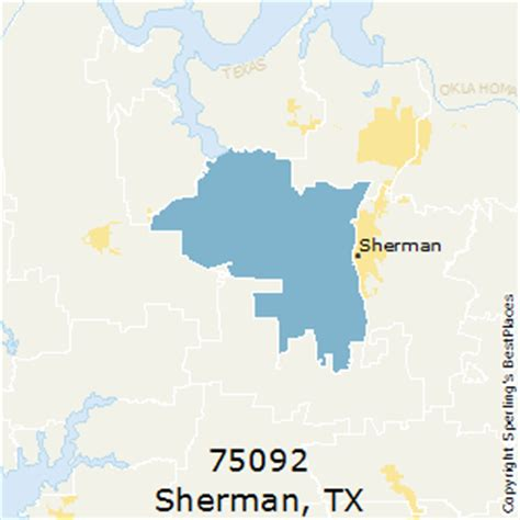 best places to live in sherman (zip 75092), texas