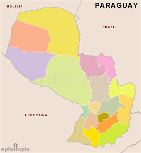 paraguay world map paraguay regions outline map regions outline map of