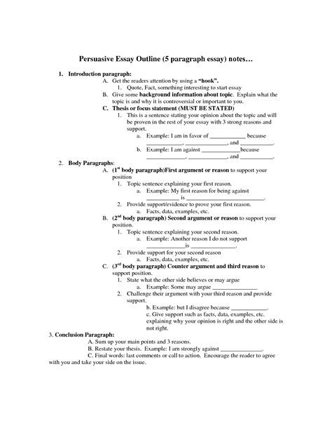 Format Of Persuasive Essay by College Essays College Application Essays Exle Of Persuasive Essay Outline