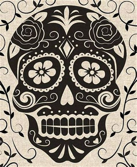 day of the dead skull template stencils sugar skull and skulls on