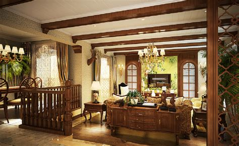 3d living room ideas american country style 3d