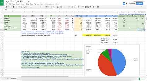 bitconnect google spreadsheet old fashioned investment portfolio template illustration