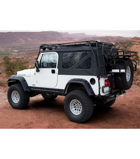 ranger jeep 2016 jeep tj 183 ranger rack 183 multi light setup gobi racks